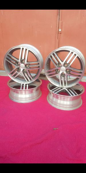 """LIKE NEW 4 SETv RIMS ORIGINALS ALUMINIUM SIZE 17"""" 5 LUGS,I REMOVE FROM MITSUBISHI ECLIPSE 2003 COMES WITH NUTS,IN PERFECT CONDITION VERY CLEAN for Sale in Los Angeles, CA"""