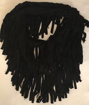 Elizabeth Gillett Black Fringe Scarf for Sale in Las Vegas, NV