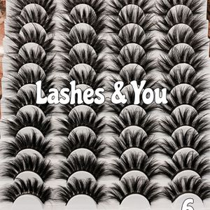 40 Mink Lashes 20 Pairs Eyelashes for Sale in Garden Grove, CA