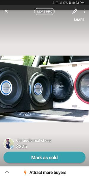 2 sets of 12s an a 12 inch single subwoofer for trade or for sale for Sale in Marysville, OH