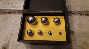 Precision tooling balls in wood case for Sale in Jonesboro, AR