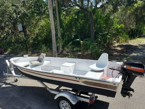 Clean 14ft Mitchell skiff, great 9.9hp Mariner, solid trailer for Sale in Bradenton, FL