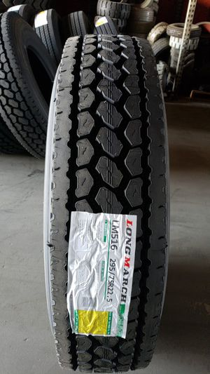 Low pro 22.5... LONGMARCH DRIVE/STEER/TRAILER TIRES for Sale in Stockton, CA