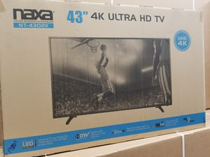 43' LED high definition 2160P 4K ULTRA HDTV BY Naxa. BRAND NEW for Sale in Los Angeles, CA