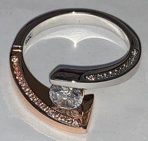 Sz-9/engagement/ring/925sterling/1.4ctwrose-gold-silver for Sale in Norfolk, VA