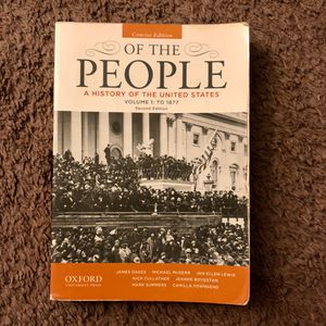 Of The People A History of the United States vol 1 for Sale in Upland, CA
