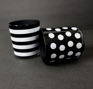 Pair of Black & White Candle Holders for Sale in Aurora, OH