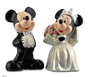 Mickey Minnie Disney World Salt Pepper Shaker Bride and Groom for Sale in LUTHVLE TIMON, MD