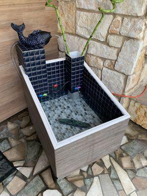 Fountain ⛲️ plus a planter for Sale in San Jose, CA