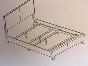 New full size bed frame with mattress set for Sale in Austin, TX