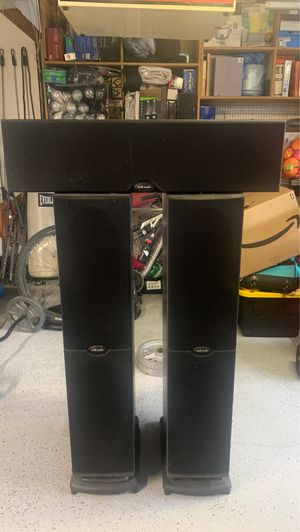 Polk Audio Center Channel and Floor Speakers for Sale in La Puente, CA