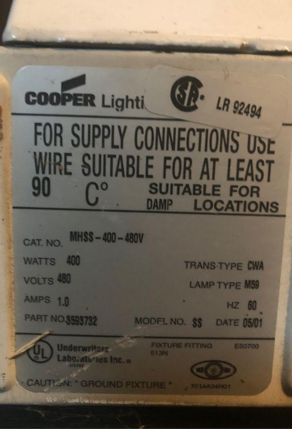 Cooper 400 watt lamp