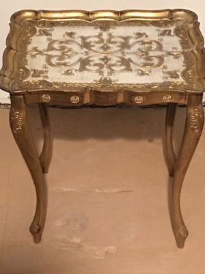 1950s Hollywood Regency Gold Gild Resin Nesting Tables Made in Florence Italy - - for Sale in Alhambra, CA