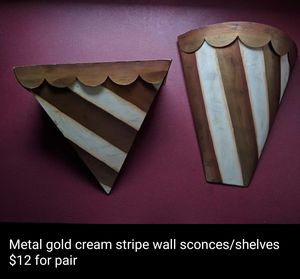 Metal wall sconces shelves, southern living at home? for Sale in Lexington, NC