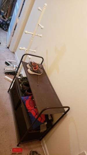 FREE - kids coat rack and shoe rack...need gone by Saturday night for Sale in McDonogh, MD