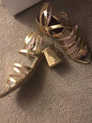 Gold gladiator heels for Sale in Shrewsbury, MA