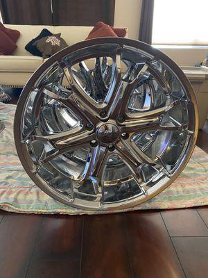 Chrome 22 inch liquidmetal 6 lug rims for Sale in Phoenix, AZ