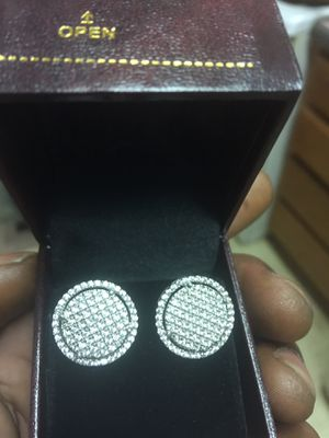 White gold diamond earrings for Sale in Washington, DC