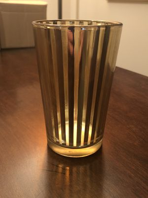 Set of 4 Gold-Striped Candle Holders (multiple sets available) for Sale in Downers Grove, IL