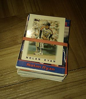 Nolan Ryan baseball cards stack for Sale in Stockton, CA