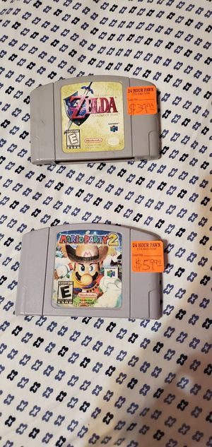 Zelda and mario party 2 for Nintendo 64 for Sale in Grand Prairie, TX