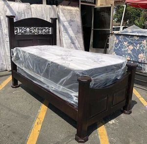 Brand new bed frame with mattress twin size for Sale in Ontario, CA