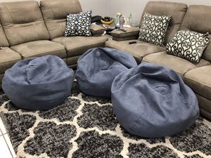 Large Microsuede Bean Bag Chair for Sale in Pompano Beach, FL