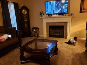 3pc living room suite with tables and sofa table for Sale in Macon, GA