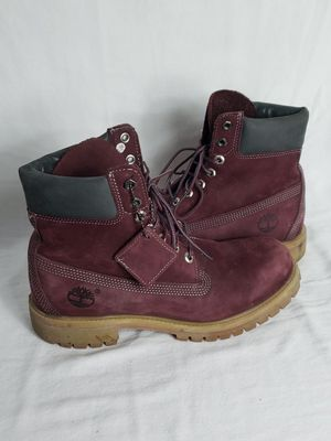 Timberland Boots, Mens Size 8M, Purple & Gray for Sale in Tampa, FL