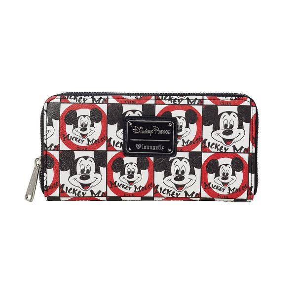 DISNEY PARKS LOUNGEFLY WALLET THE MICKEY MOUSE CLUB