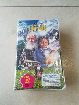 Brand New Heidi VHS packaged with free Heidi Book! 2 for 1 deal, tape New, Sealed! for Sale in Miami, FL