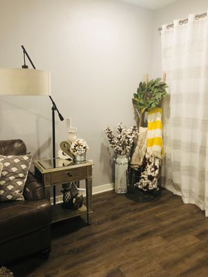 Household Items& Furniture: Pier 1 End Tables, storage Ottoman. Bridge Picture. Pillows. Standing Mirror. Cotton Stems+Vase. Closet Organ for Sale in Murfreesboro, TN