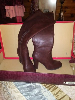 Brown Leather Thigh High Boots for Sale in Leesburg, FL
