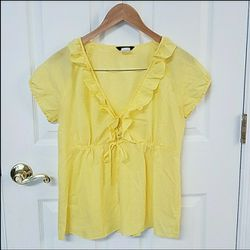 Womens J Crew Yellow Blouse for Sale in Sykesville,  MD