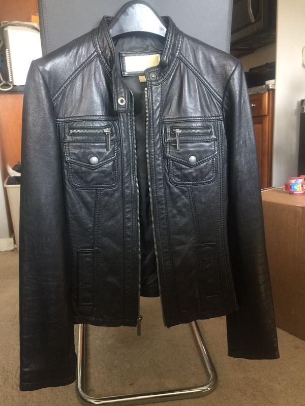Michael MICHAEL KORS Leather Jacket Black XS