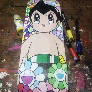 Astro Boy Takashi Murakami Custom Mini Skateboard Deck Painting for Sale in Santa Monica, CA