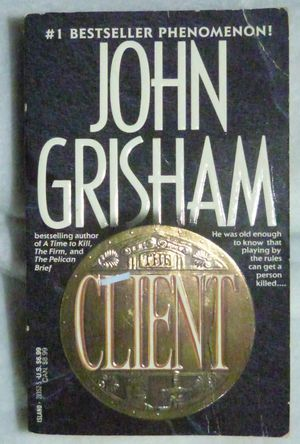 John Grisham The Client Softback Book for Sale in Ripley, WV