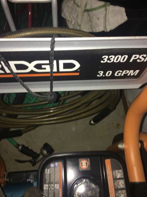 Ridgid 3300 psi 3.0 GPM Pressure Washer Like New for Sale in New Eagle, PA