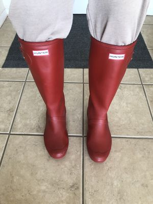 Tall Hunter rain boots for Sale in Alexandria, VA
