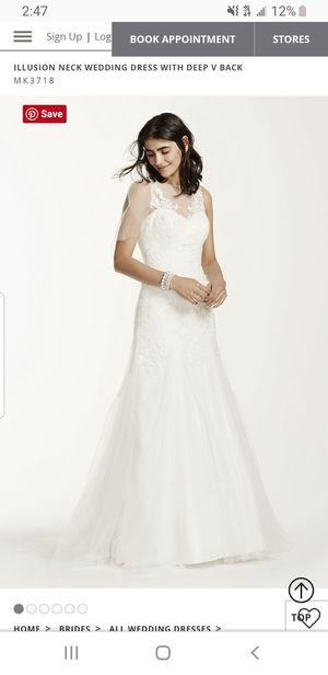 David's Bridal Wedding Dress sz 12 for Sale in Houston, TX