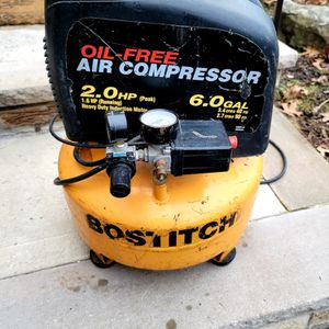 Bostitch 2 HP 6 Gallon Air Compressor for Sale in Woodbridge Township, NJ