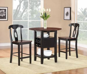 3PC Atwood Counter Height set w/ wine storage $349.00 On sale! FREE DELIVERY for Sale in Ontario, CA