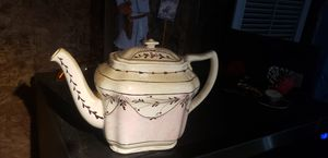 Antique CUMBOW Ruskin Williamsburg PINK Copper LUSTER Teapot for Sale in Naples, FL