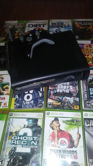 Xbox 360 26 games two controllers and all the connection for Sale in Savannah, GA