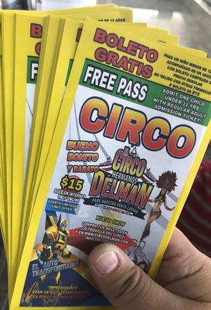 FREE CIRCUS TICKETS 🎫 for Sale in Dallas, TX