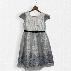 Jona Michelle • Silver Glitter & Ice Blue Kids Party Dress SZ 10 for Sale in Lake Stevens,  WA