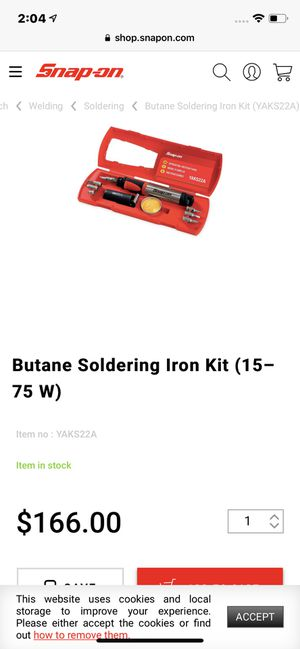 SNAP-ON BUTANE SOLDERING IRON KIT for Sale in Los Angeles, CA