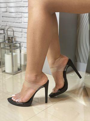 Black Double Strap Heels for Sale in Hialeah, FL