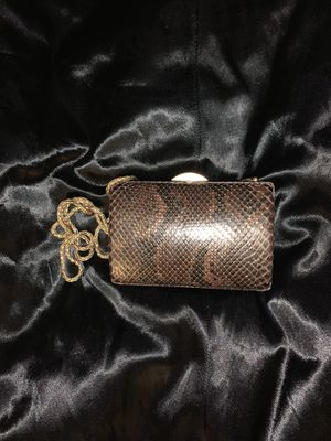 Chanel Matallic Python Clutch bag for Sale in Irving, TX
