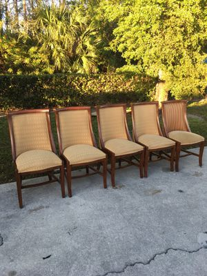 All 5 Wooden Chairs $30 for Sale in Bonita Springs, FL